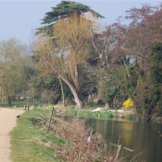 Looking WNW just east of where the Rivers Beane and Rib flow into the Lea   by Richard Brockbank