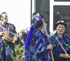 Members of Wicket Brood morris dancing side