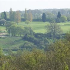 Golf Course (Chadwell Springs?) viewed across the valley | Richard Brockbank