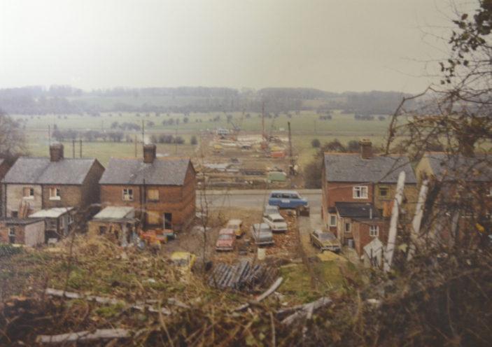 Cottages after demolition in Ware Road 19.1.