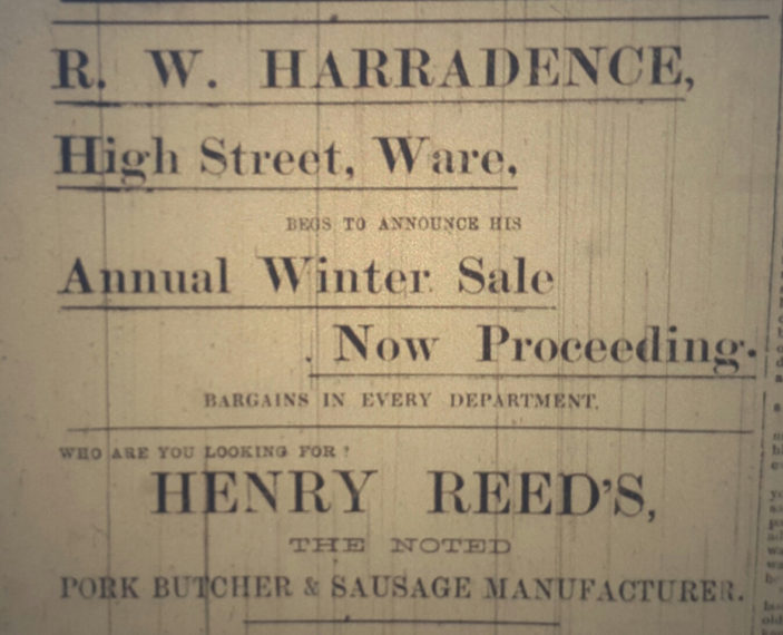 Ad from 1905 | Hertfordshire Mercury