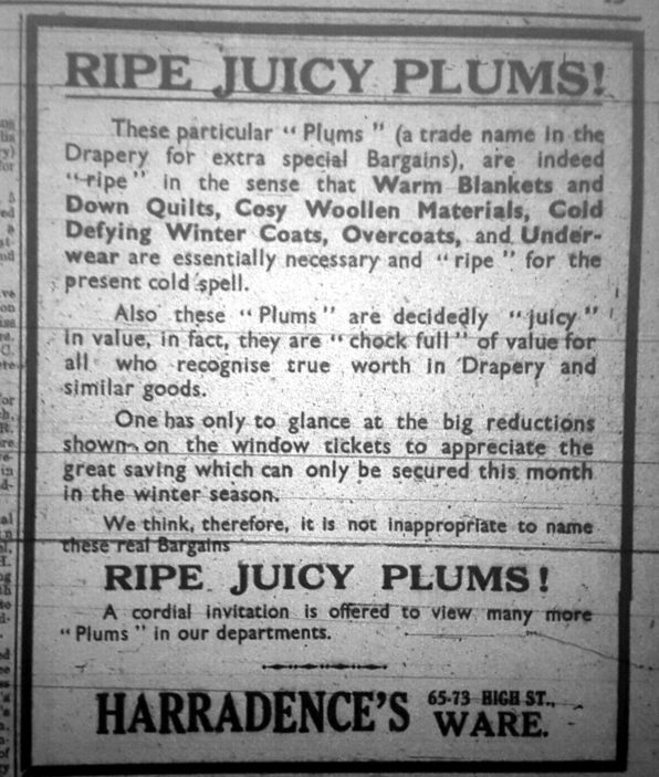 Ad in 1935 | Hertfordshire Mercury
