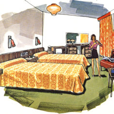 The bedrooms, 1970s