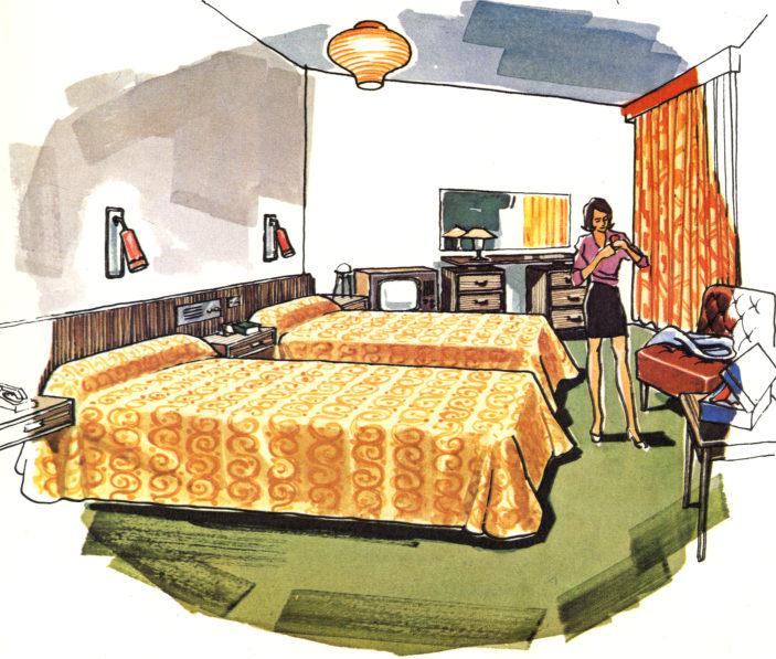 The bedrooms, 1970s