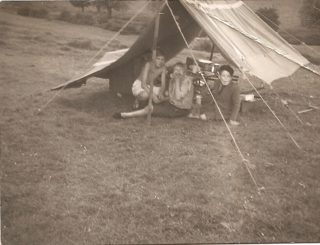 My Dad, Ray Wallis & Henry ? & Terry ? Whitsun Camp Sawtrees 1949