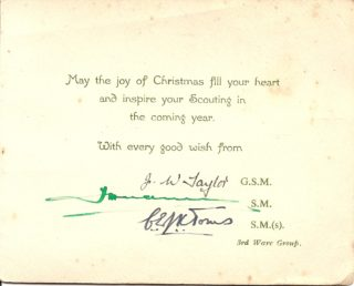 Inside of the Christmas card