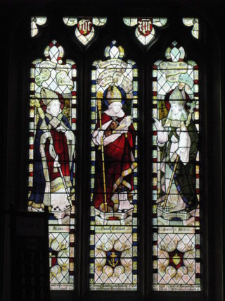 Northumbrian Saints Aiden, Cuthbert & Wilfred, Acomb | Mike Quinn, Creative Commons licence https://www.geograph.org.uk/photo/1269370