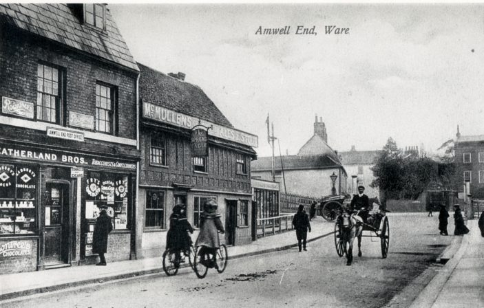 Amwell End - looking towards the railway | Hertfordshire Archives and Local Studies