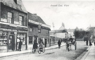 Amwell End with the Level Crossing in the background | Hertfordshire Archives and Local Studies