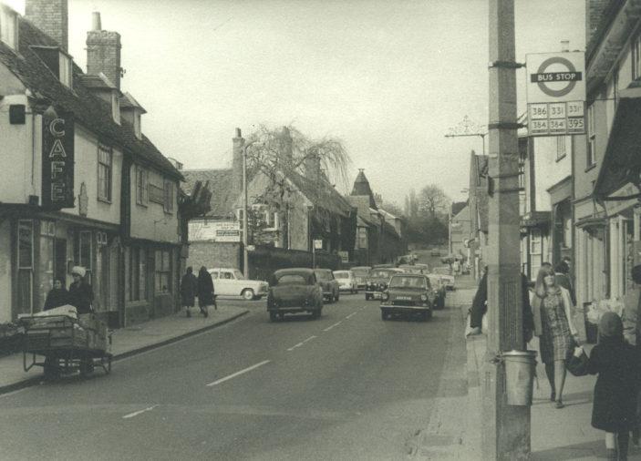 Looking up Baldock Street, 1966 | Herts Archives & Local Studies (ref Acc 5290)