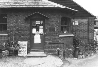 One of the buildings in Barber's Yard (being used as an office) in 1978, before the area was redeveloped