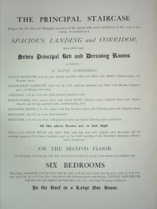 Bayley Hall Sale Document 1898