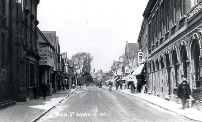 High Street - beside the old Town Hall | Hertfordshire Archives and Local Studies