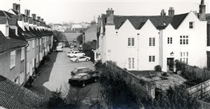 Bluecoat Yard and Place House c 1970s | Hertfordshire Archives & Local Studies