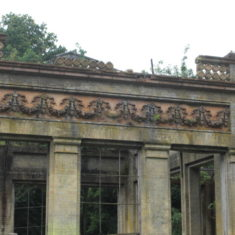 The frieze at the back of The Orangery