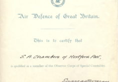 Observer Corps Certificate