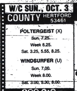 Poltergeist, one of the last films to be shown