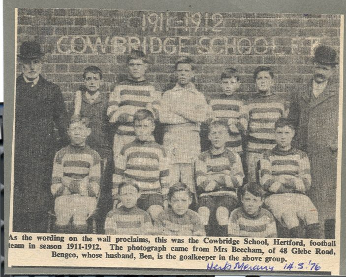 Cowbridge School under Walter Turpin | Hertfordshire Archives and Local History