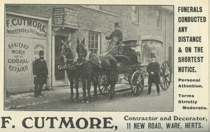 From a directory of Ware, 1920   Hertfordshire Archives and Local Studies