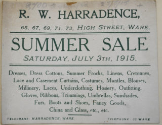 Ad in 1915 | Herts Archives (ref DE/X/275)