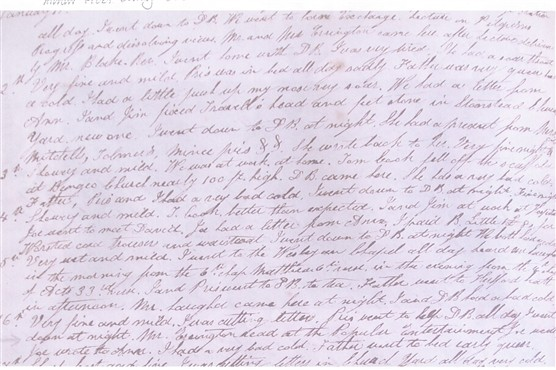 A page from the Diary [D/EHxB20] | Hertfordshire Archives and Local Studies