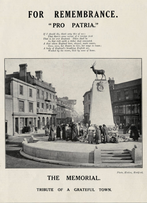 Hertford War Memorial | Herts Archives (DE/P/F564)