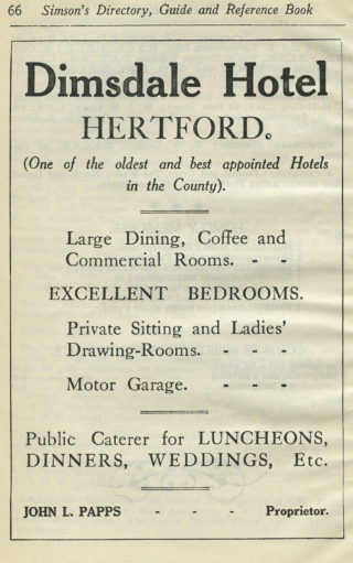 Advert in a directory of 1927 | Hertfordshire Archives and Local Studies