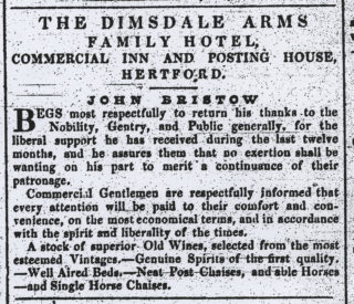 Advert from the County Press, 1836 | Hertfordshire Archives and Local Studies