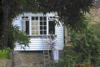 The intrepid painter on his ladder | Rosie Bolton