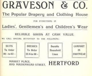 Advertisement in Kelly's Directory of Hertfordshire, 1912