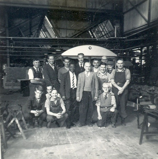 Group photo taken in the workshop