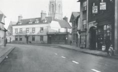 Eliza Hattam's shop can be seen on the right-hand side of this photograph, to the left of the arch