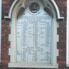 The Boer War Plaque