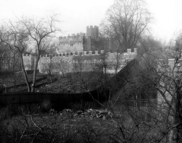 Hertford Castle from Castle St   Hertfordshire Archive & Local Studies