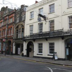 The buildings remain very much the same, but the former Dimsdale Arms has now become Pizza Express   Fiona MacDonald