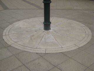 The commemorative roundel in Bircherley Green shopping centre in Hertford