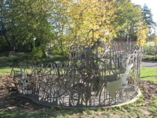 The Wallace-inspired sculpture near Hartham Common in Hertford