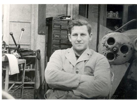 Ian Webb in the machine shop