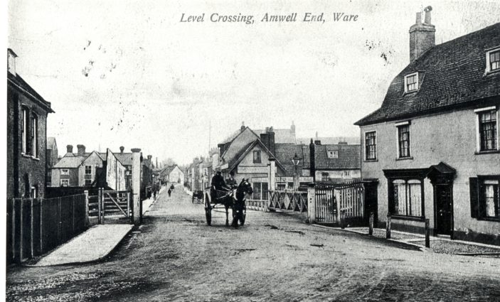 Level crossing - Amwell End | Hertfordshire Archives and Local Studies