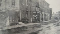 The south side of St Andrew Street in the early 20th century, showing Halmond J. Middleton's hairdressing salon