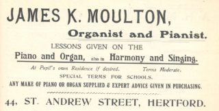 This advertisement appeared in the 1912 edition of Kelly's Directory of Hertfordshire