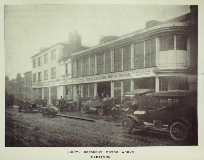 North Crescent Motor Works 1923 | Hertfordshrie Archives and Local Studies