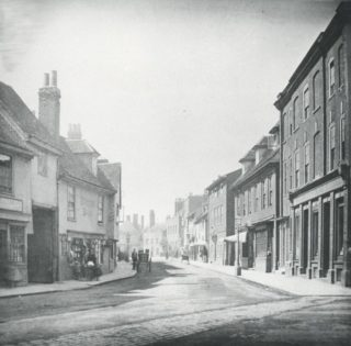 Looking down St Andrew Street from Old Cross, early 20th century (photo: Mr Elsden)