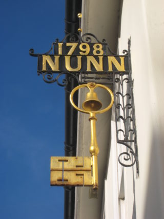 The key sign on the Hertford Museum building