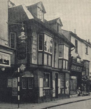 The Old Coffee House Inn on the corner of Honey Lane