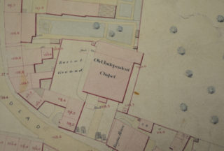 The chapel on a map of 1851 | Herts Archives & Local Studies, D/ELeP1