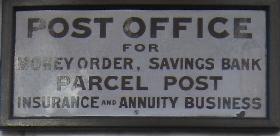Sign near the letter box at the site of the old post office | Caroline Churton