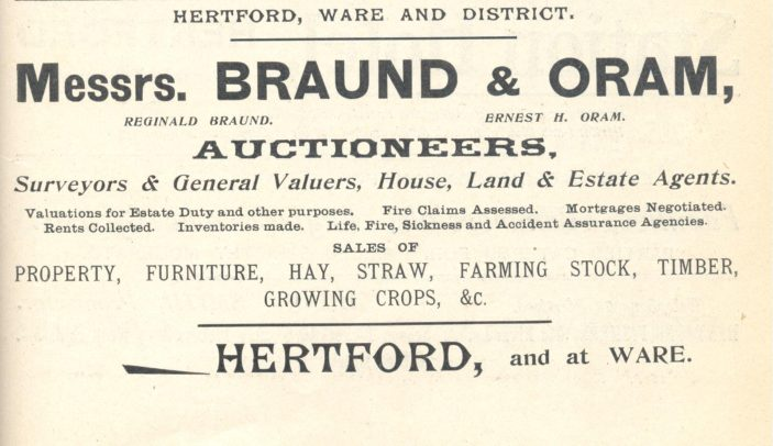 This advertisement appeared in the 1912 edition of Kelly's Directory of Hertfordshire | Hertfordshire Archives & Local Studies