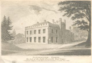 An engraving, dated 1810, of Panshanger near Hertingfordbury