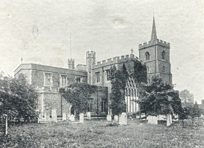Parish Church of St. Mary - since surrounded by trees | Hertfordshire Archives and Local Studies